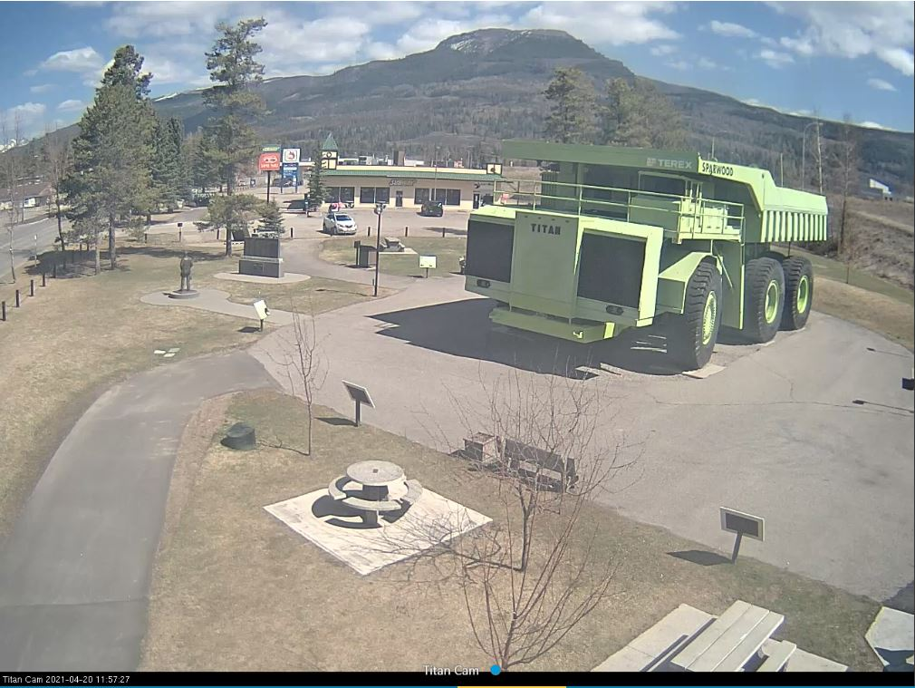 This is a live view of the Terex Titan in Sparwood, British Columbia, Canada